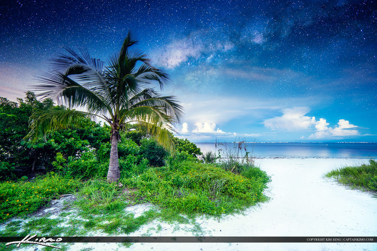 Sanibel Island Beach underneath Stars