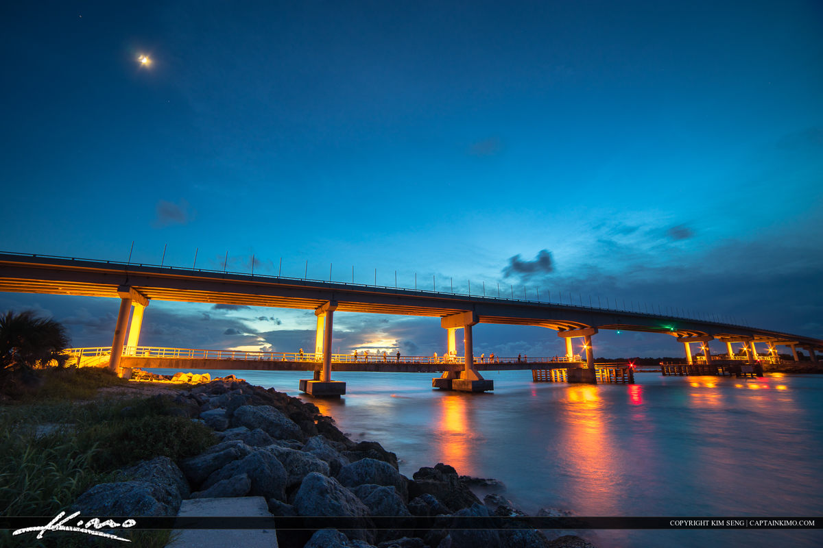 Sebastian Inlet Bridge After Sundown