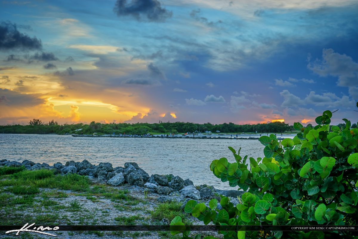 Sebastian Inlet State Park at Sunset