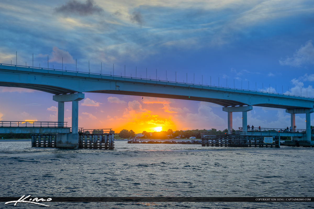 Sebastian Inlet Sunset at Bridge Melbourne Beach