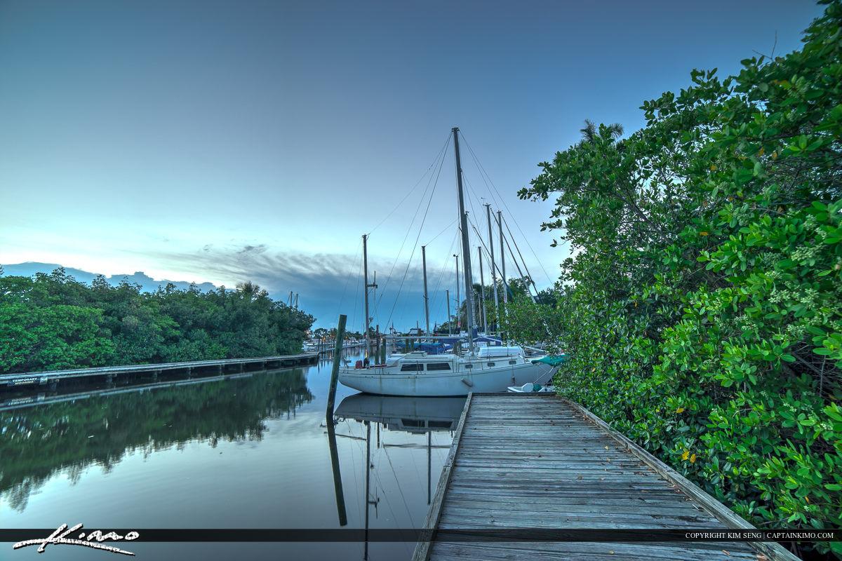 Port Salerno Manatee Park Marina Sailboat