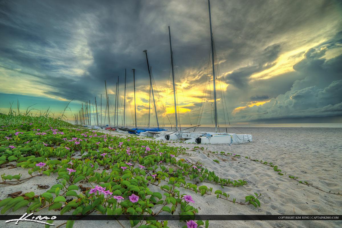 Delray Beach Sailboats along Palm Beach County Florida