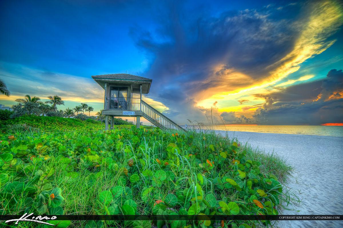 Delray Beach Florida Lifeguard Tower at Sunrise