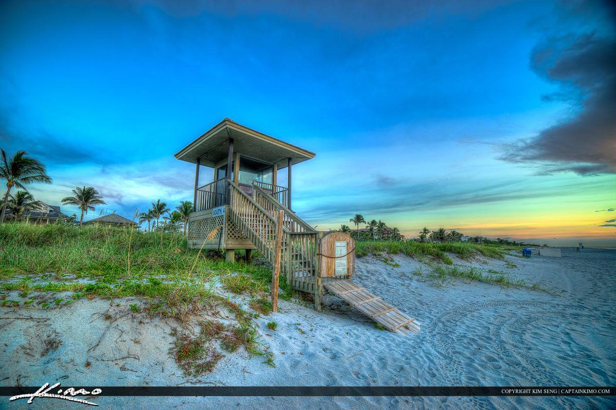 Delray Beach Florida Lifeguard Tower at Beach