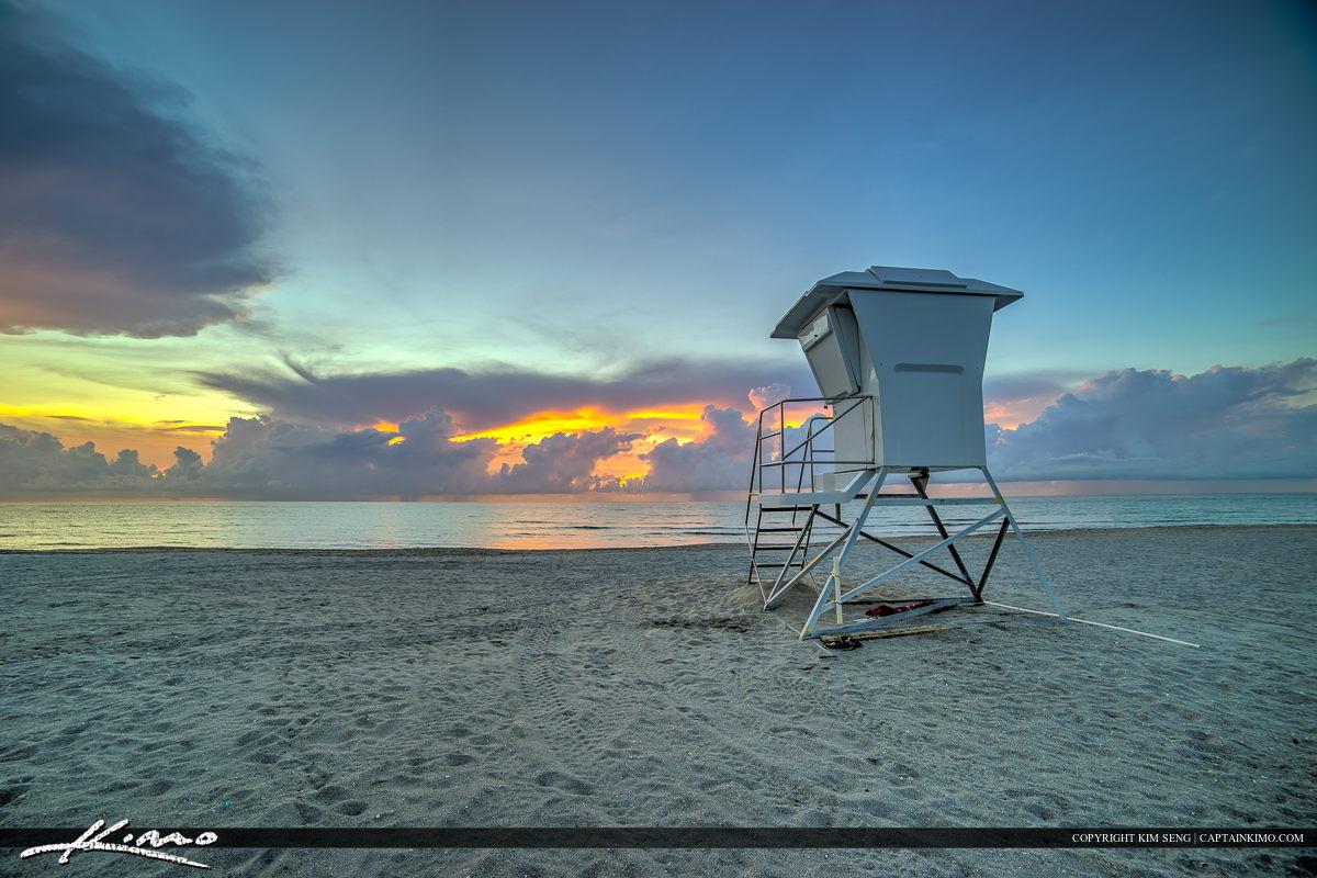 Delray Beach Florida Lifeguard Tower
