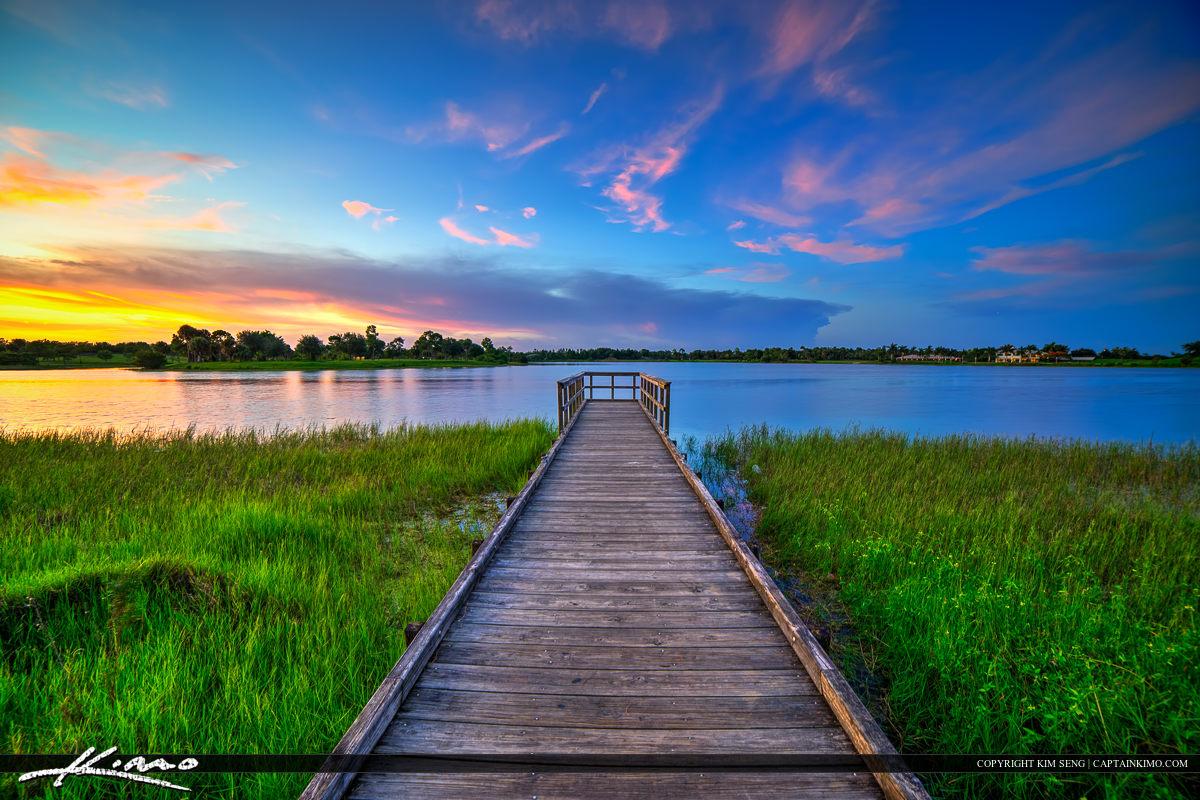 Okeeheelee Park Sunset at Lake Pier