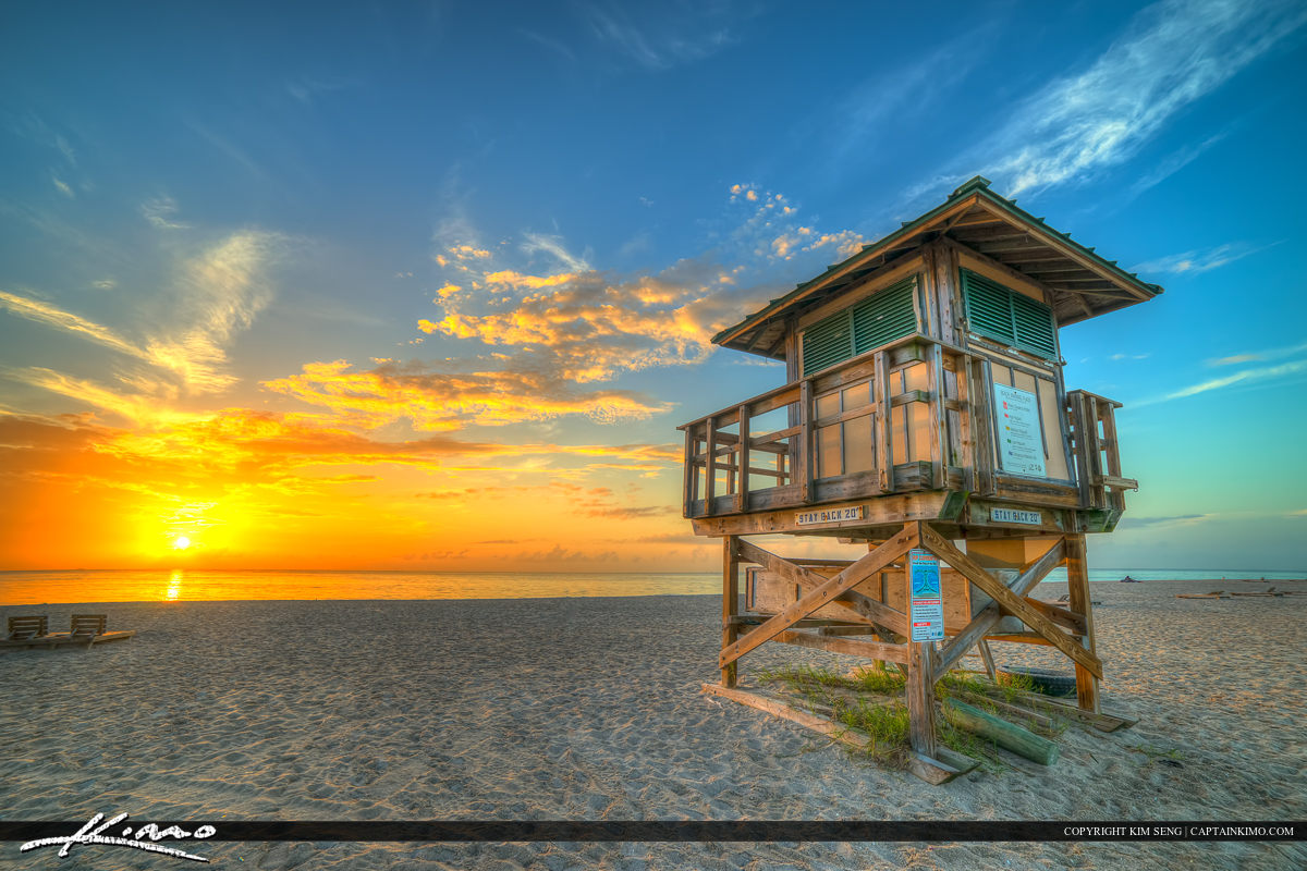 Riviera Beach City Park Lifeguard Tower at Sunrise