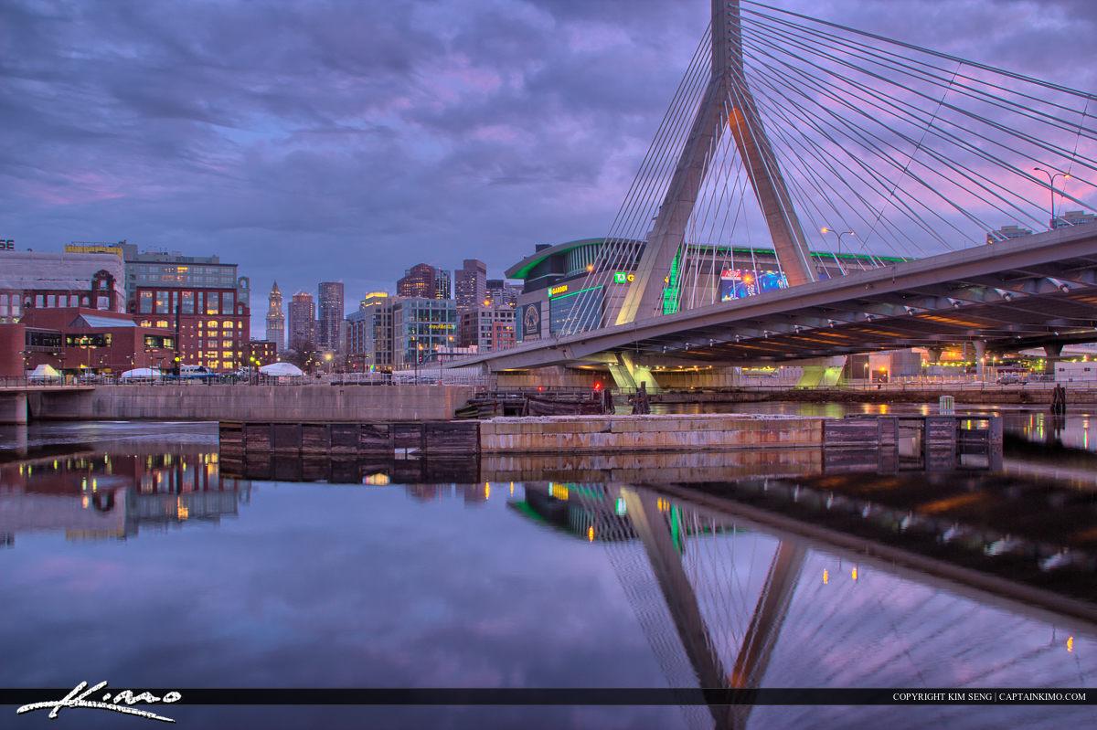 Boston City Downtown CHarles River at TD Stadium