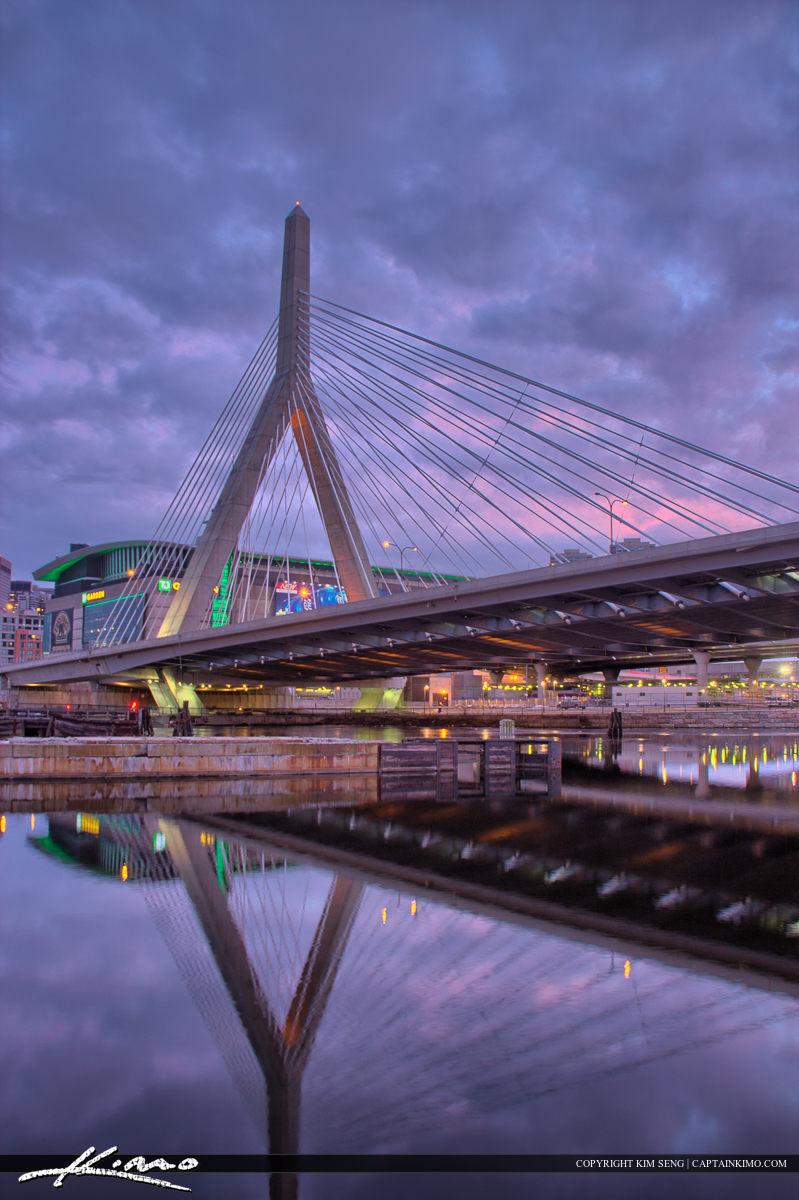 Boston City Downtown Charles River at Bridge