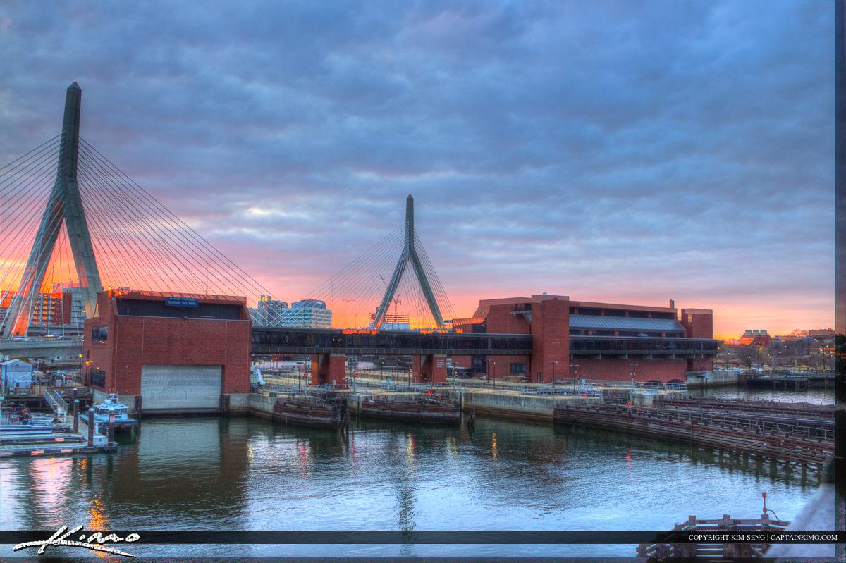 Boston City Downtown Charles River