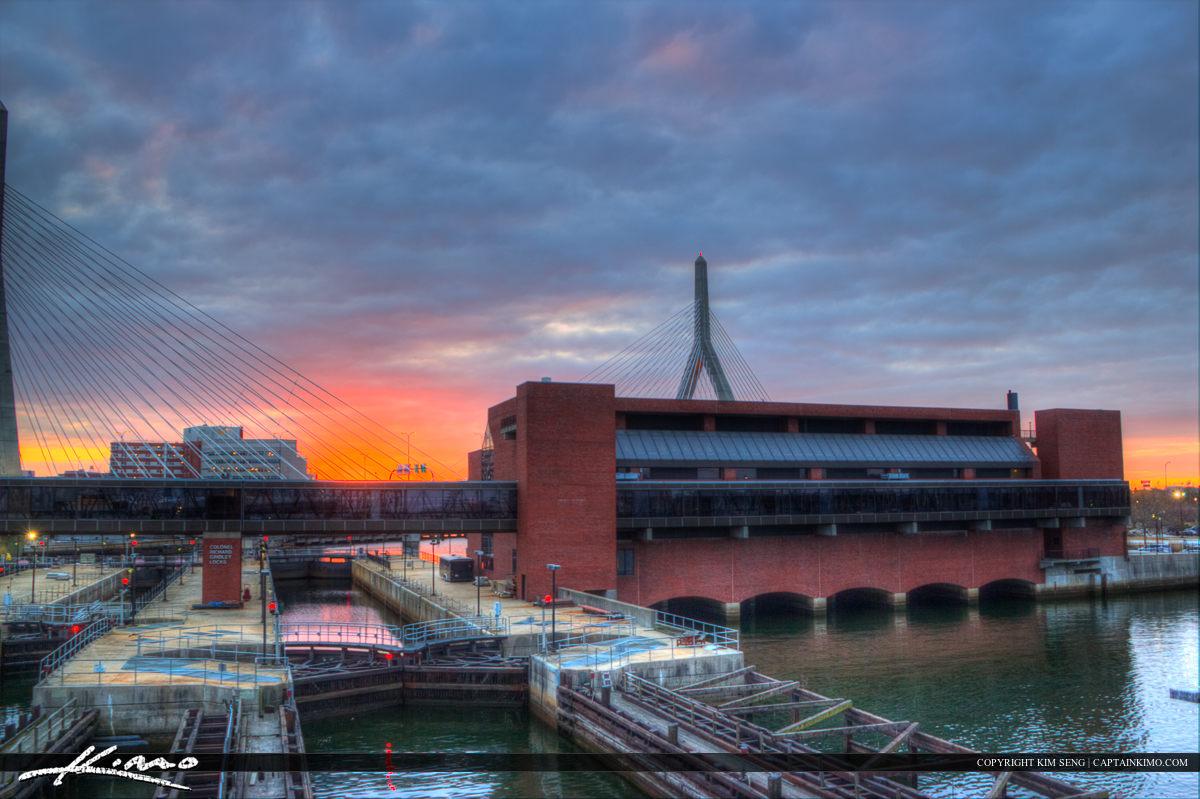 Boston City Downtown Sunset Charles River Mason