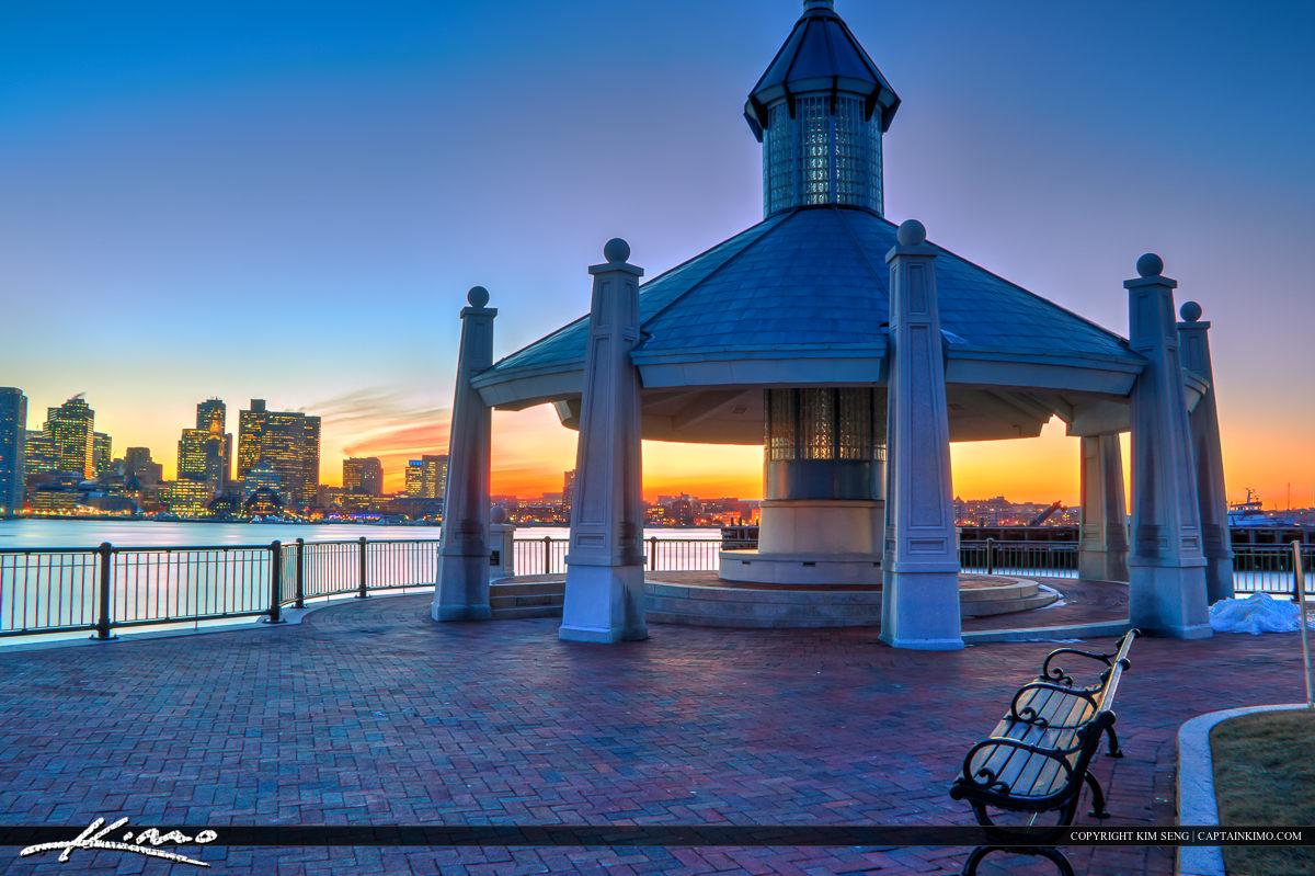 Boston Skyline Piers Park