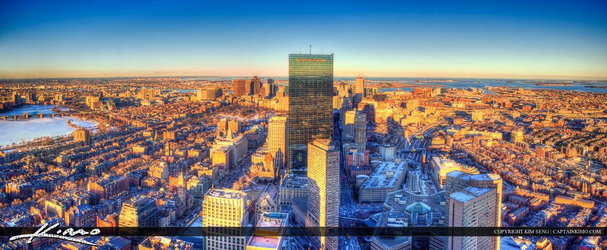 Boston Skyline Aerial
