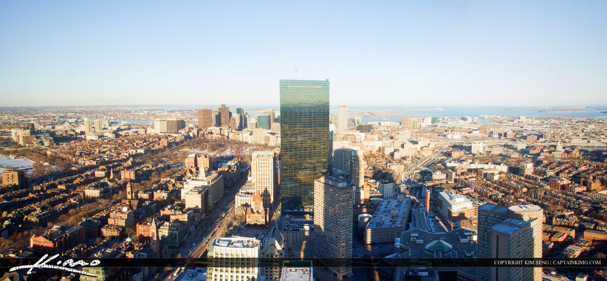 Boston Skyscrappers from the Prudential Building