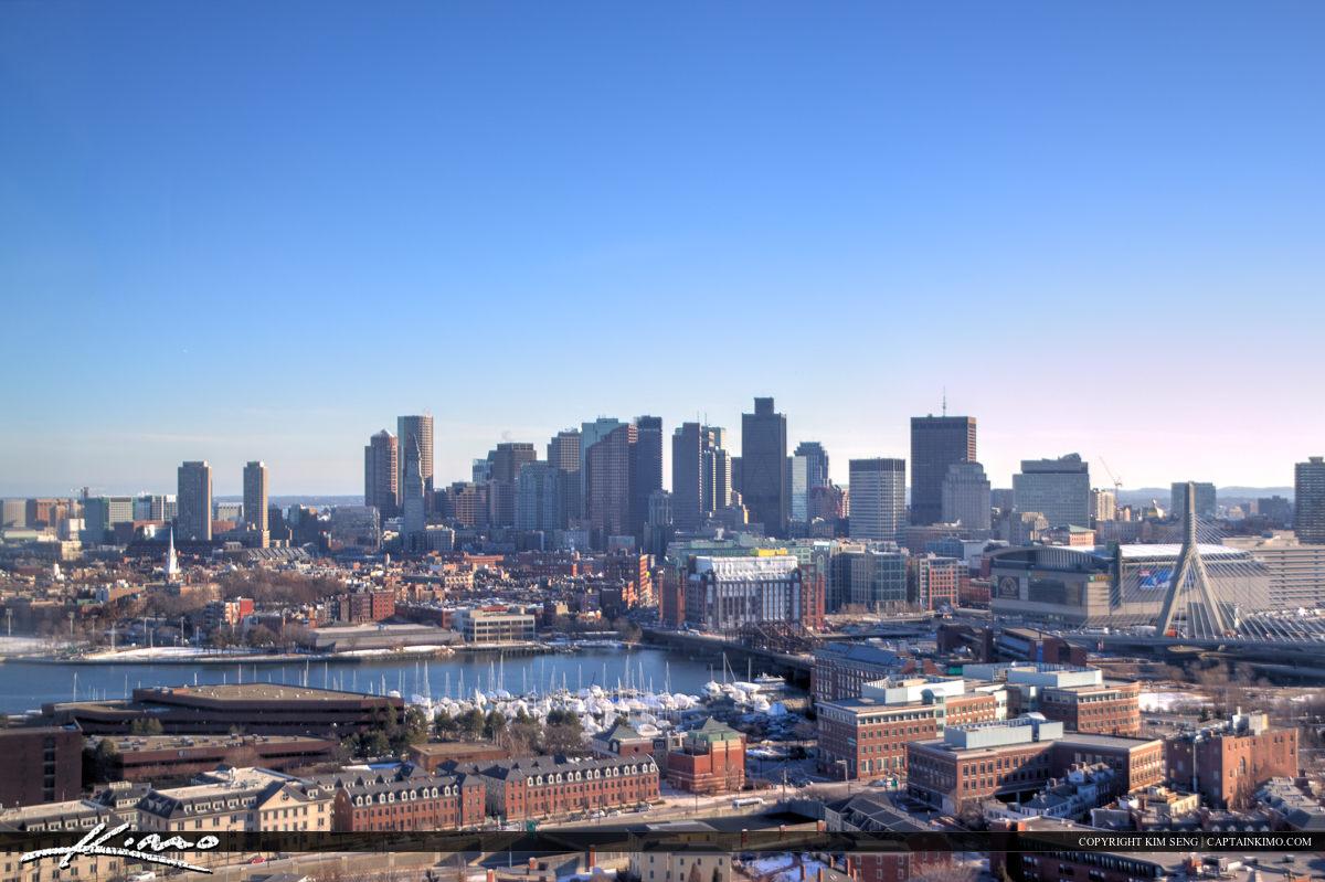Boston Ariel City Skyline