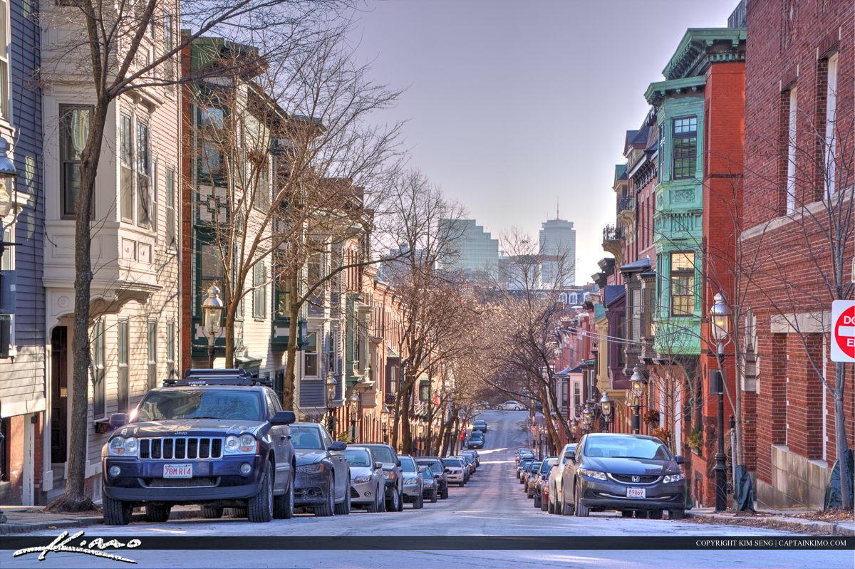 Boston Winter in Cambridge Massachusetts at Street