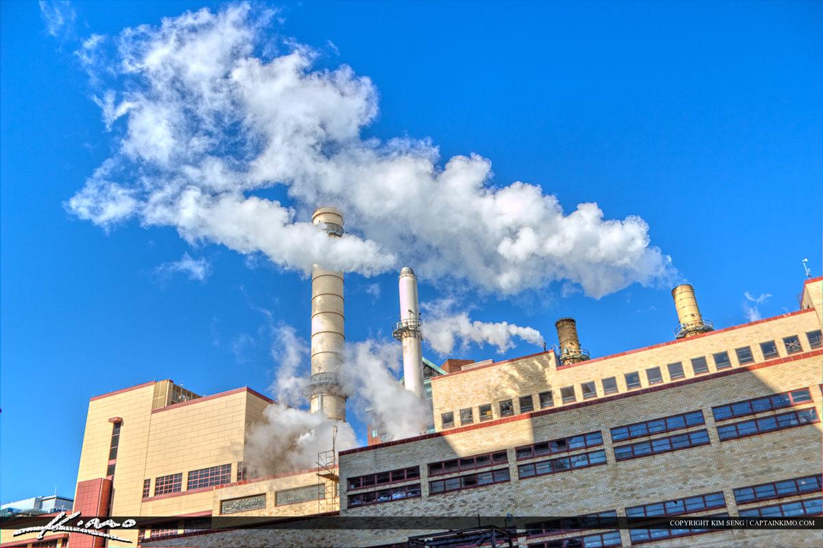 Boston Factory with Smoke
