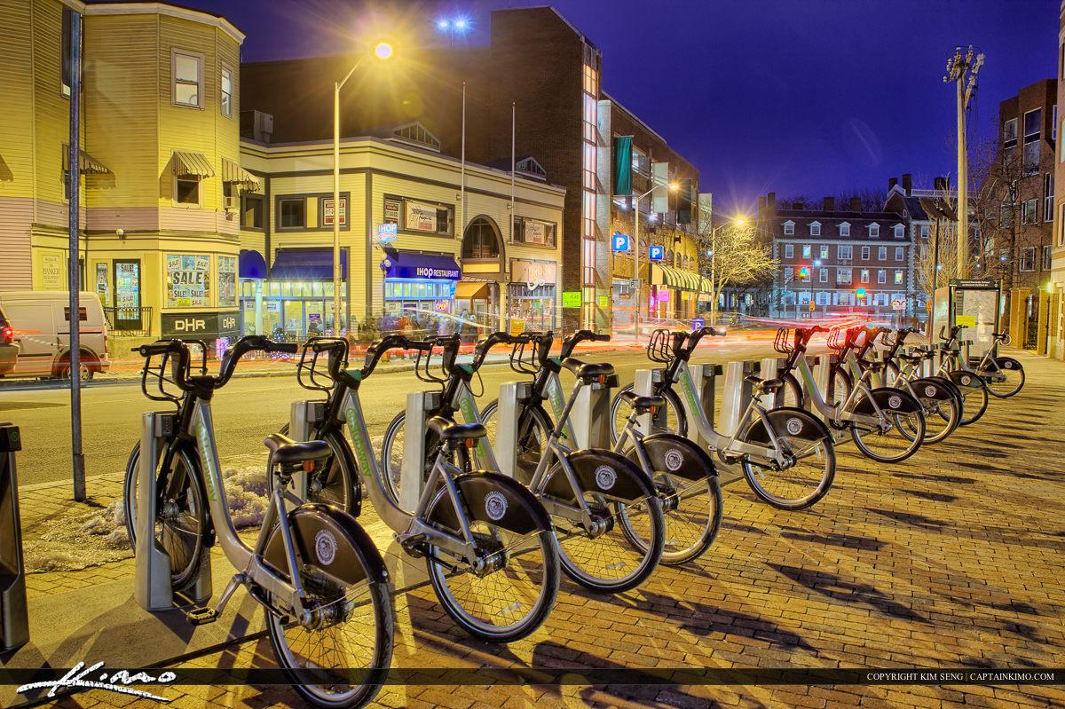 Harvard Square Cambridge Massachusetts Public Bike Transportation