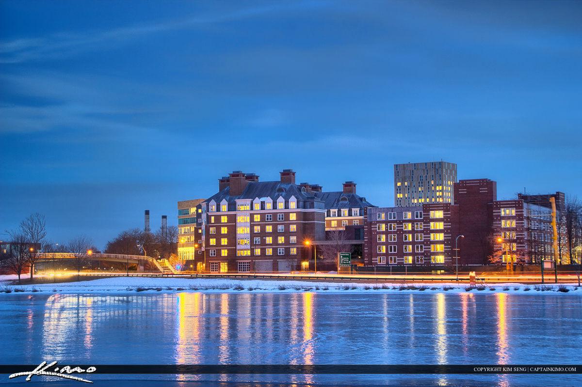 Harvard Square Cambridge Massachusetts Charles River Harvard Bus