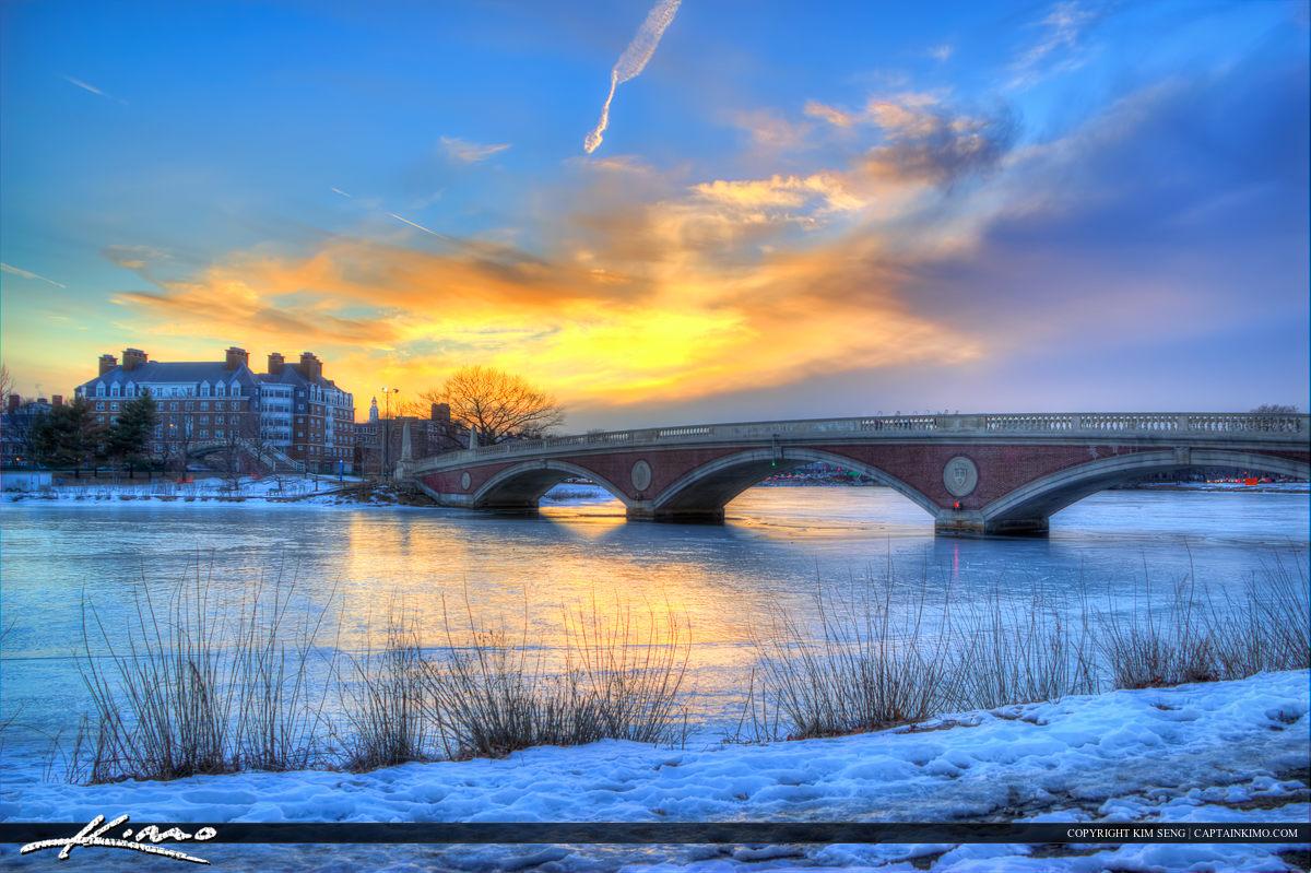 Harvard Square Cambridge Massachusetts John W. Weeks Bridge