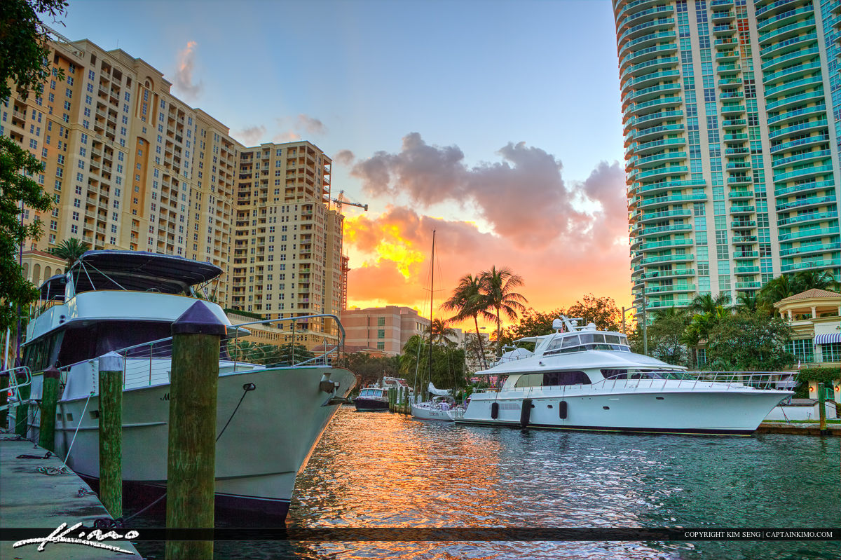 Fort Lauderdale Sunset at New River