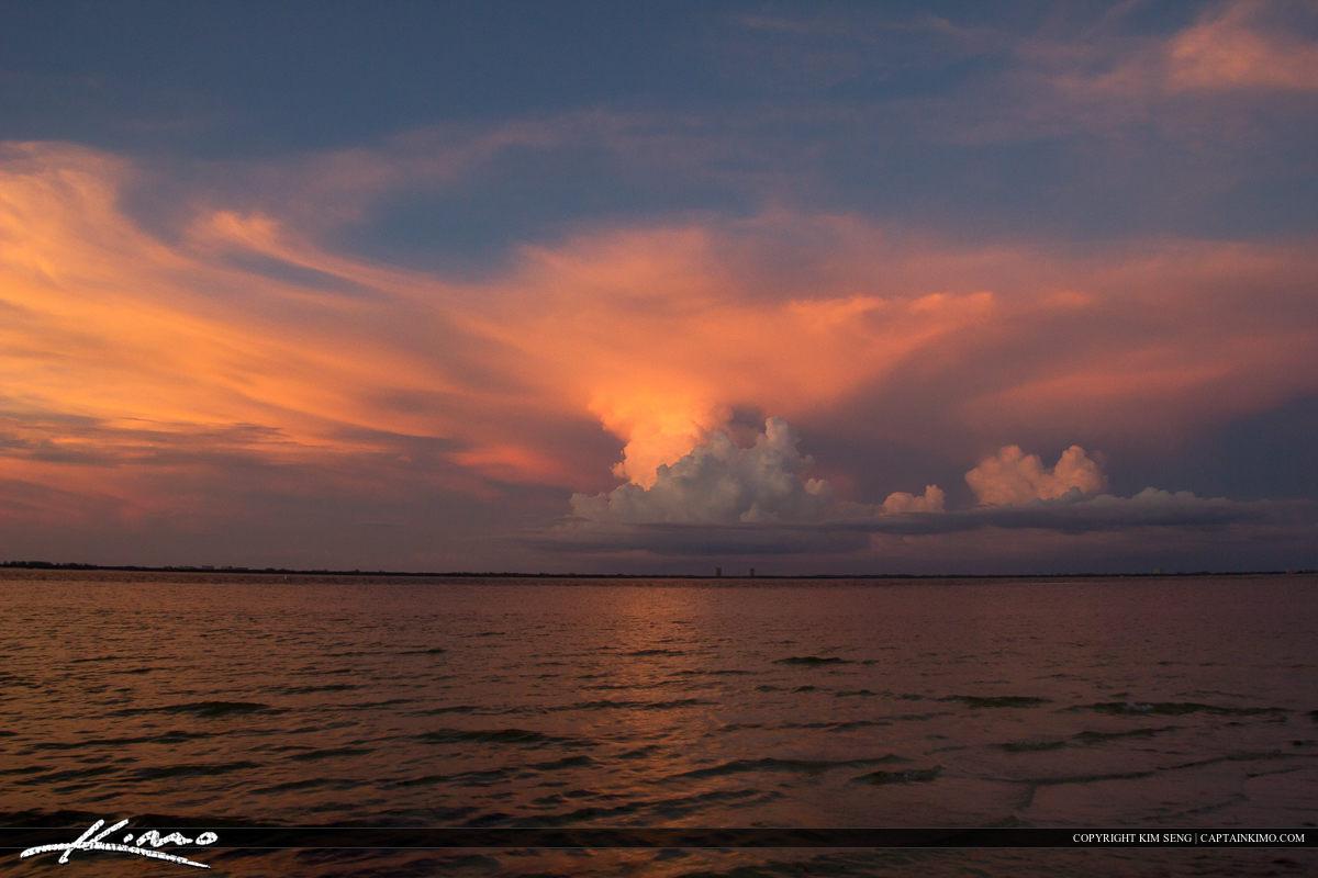Cloud Background Over Ocean