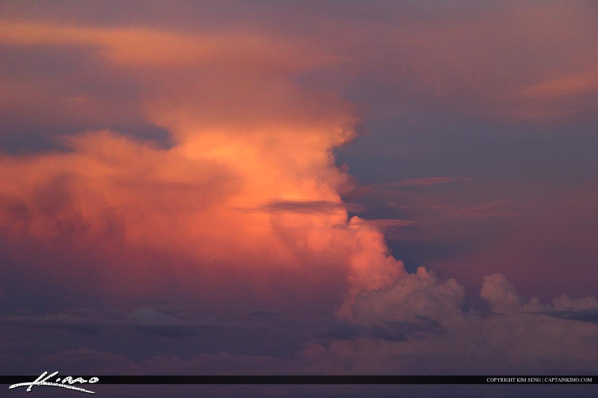 Cloud Background Purple Sky