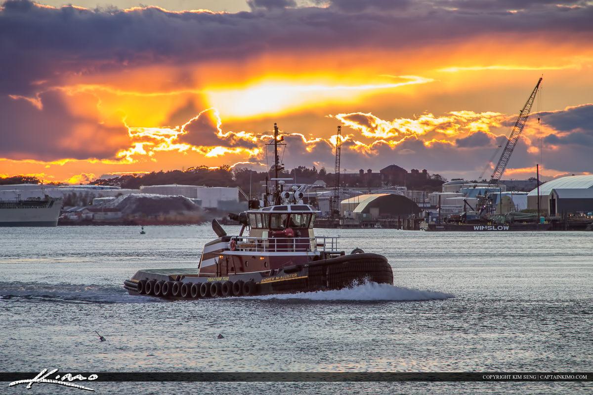 Tugboat Portland Maine at Marina