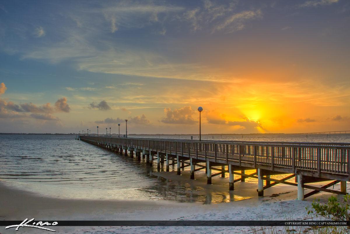 Jensen Beach Florida at Pier Indian Riverside Park Martin County
