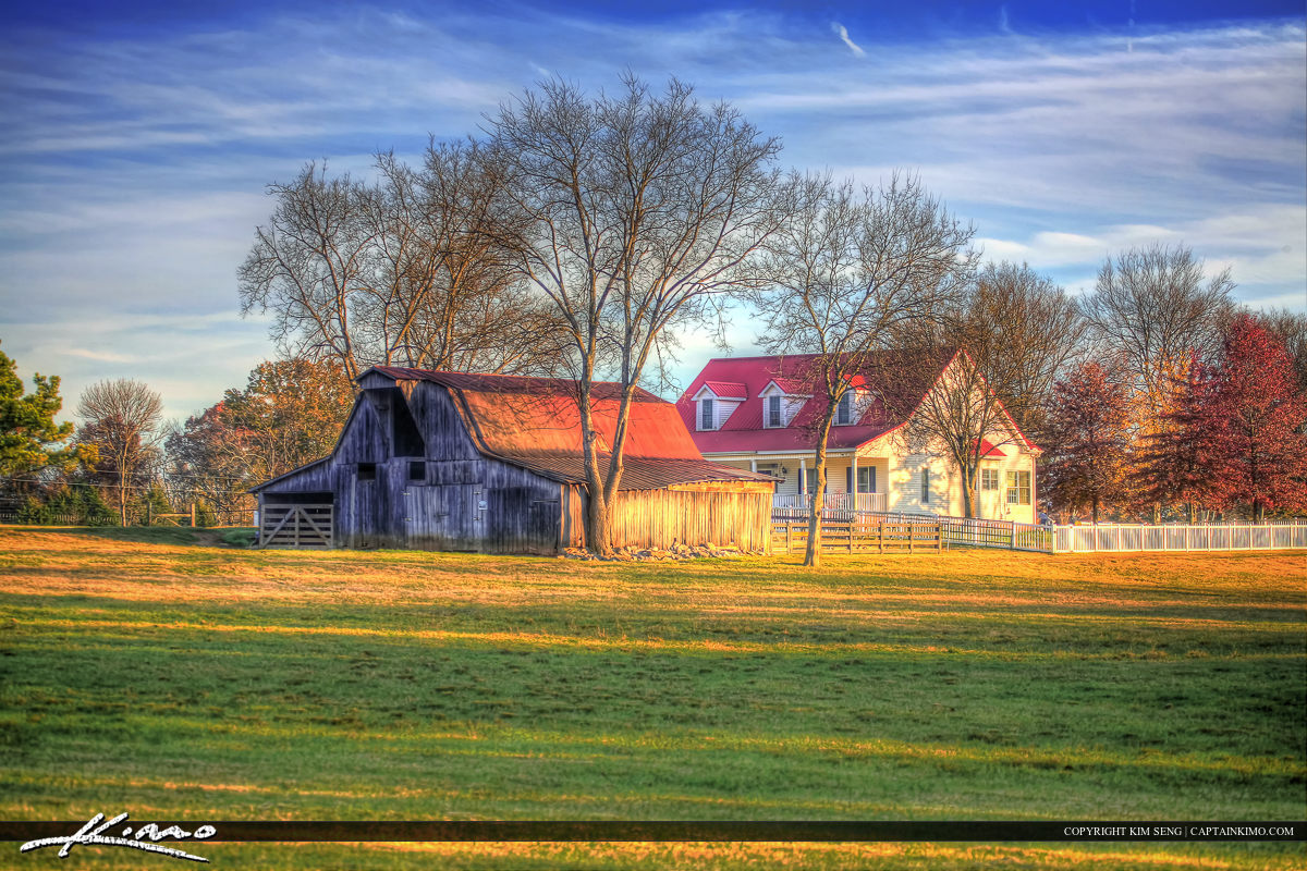 Murfreesboro Tennessee Old Barn and House