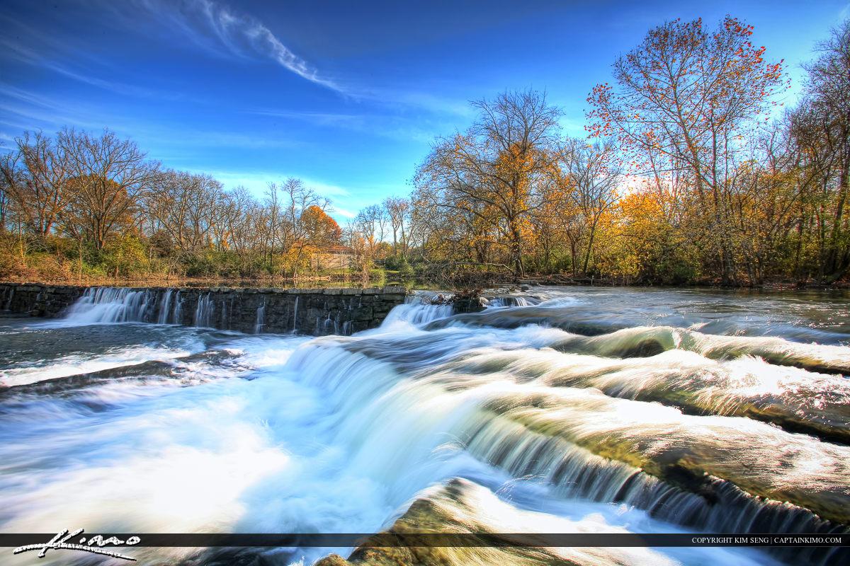 Stones River Murfreesboro Tennessee Waterfall at Dam