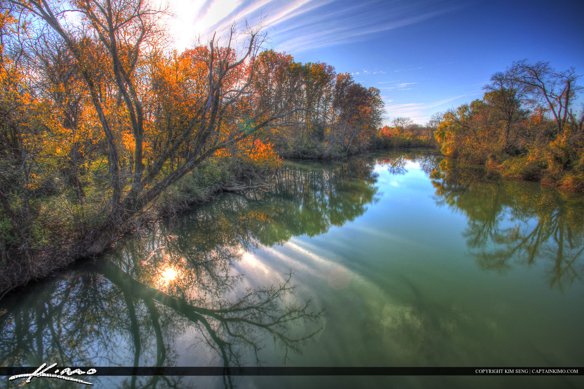 Stones River Murfreesboro Tennessee from Bridge