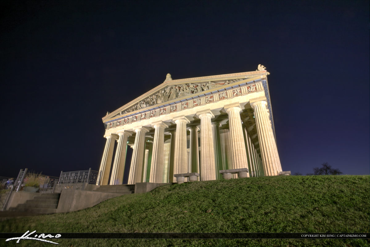 The Parthenon Nashville Tennessee Centennial Park from Side