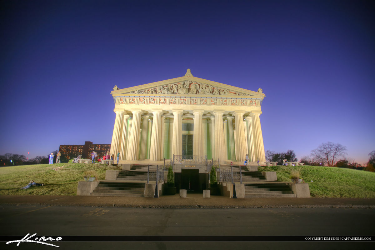 The Parthenon Nashville Tennessee Centennial Park from Stairs
