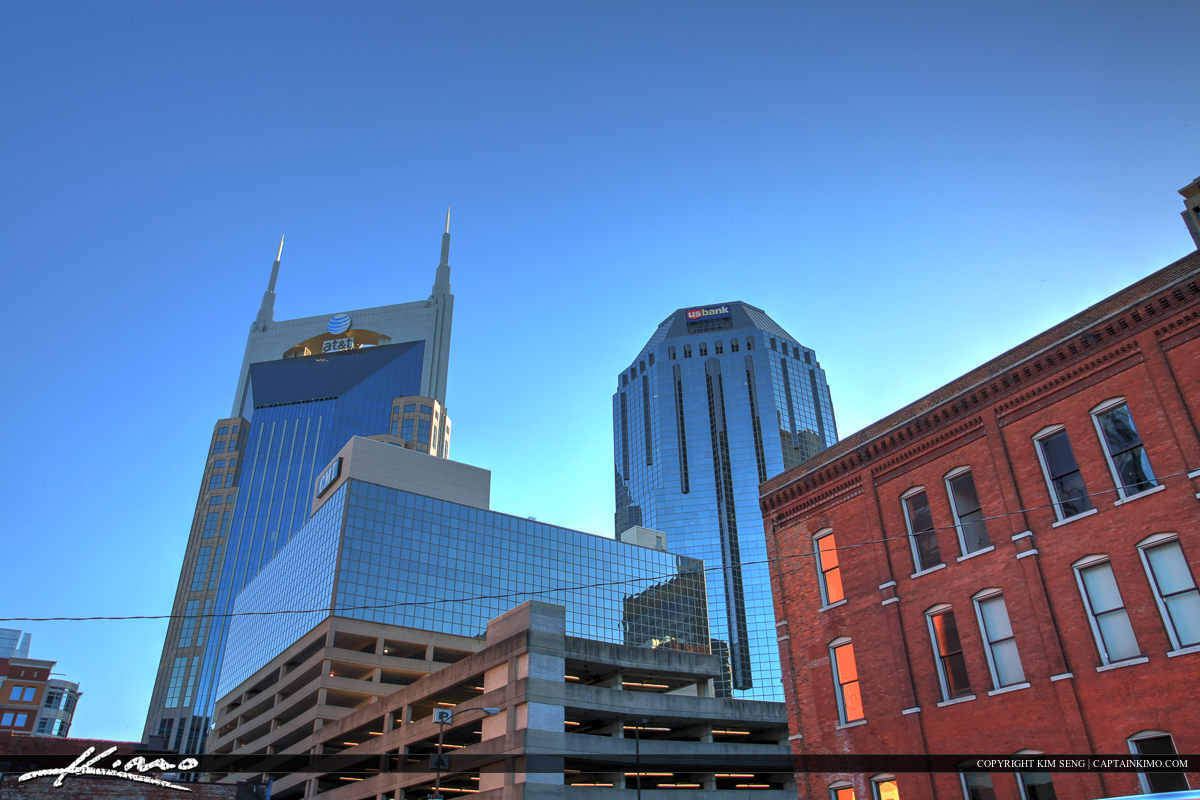 Nashville Tennessee City Downtown Cityscape and Buidlings