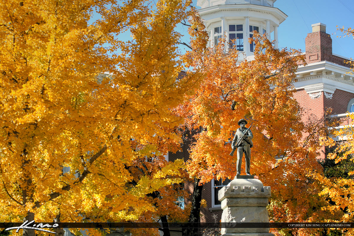 Murfreesboro Tennessee Rutherford County Courthouse Orange Leave