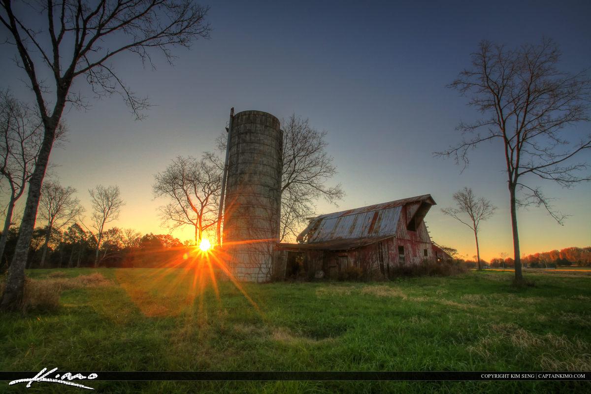 Murfreesboro Tennessee Old Barn at Sunrise