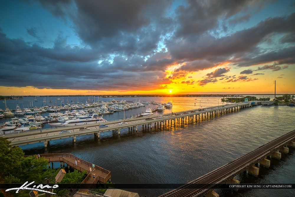 Sunset Marina Stuart Florida St Lucie River