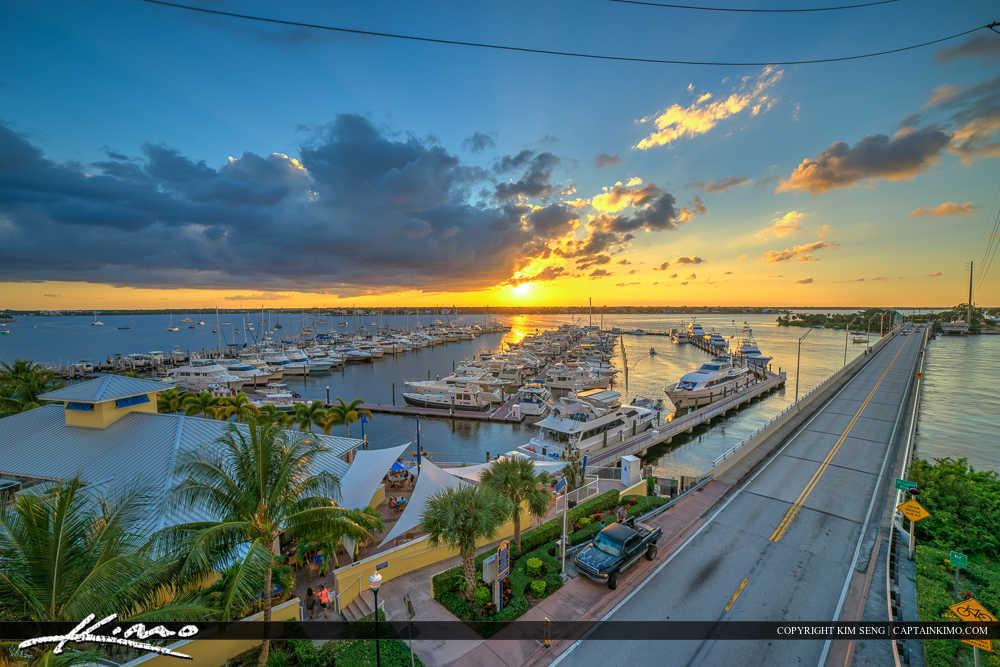 Sunset Marina Stuart Florida Martin County