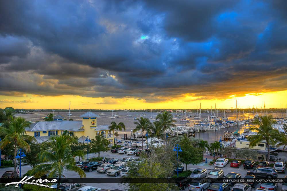 Sunset Marina Stuart Florida at Parking Lot