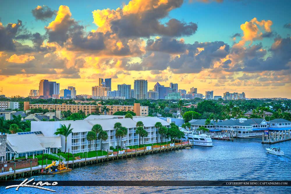Fort Lauderdale Skyline City Buidlings