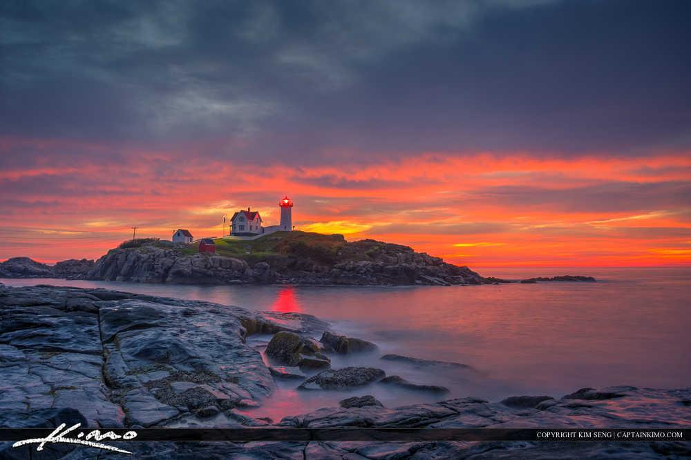 Cape Neddick Lighthouse before Sunrise