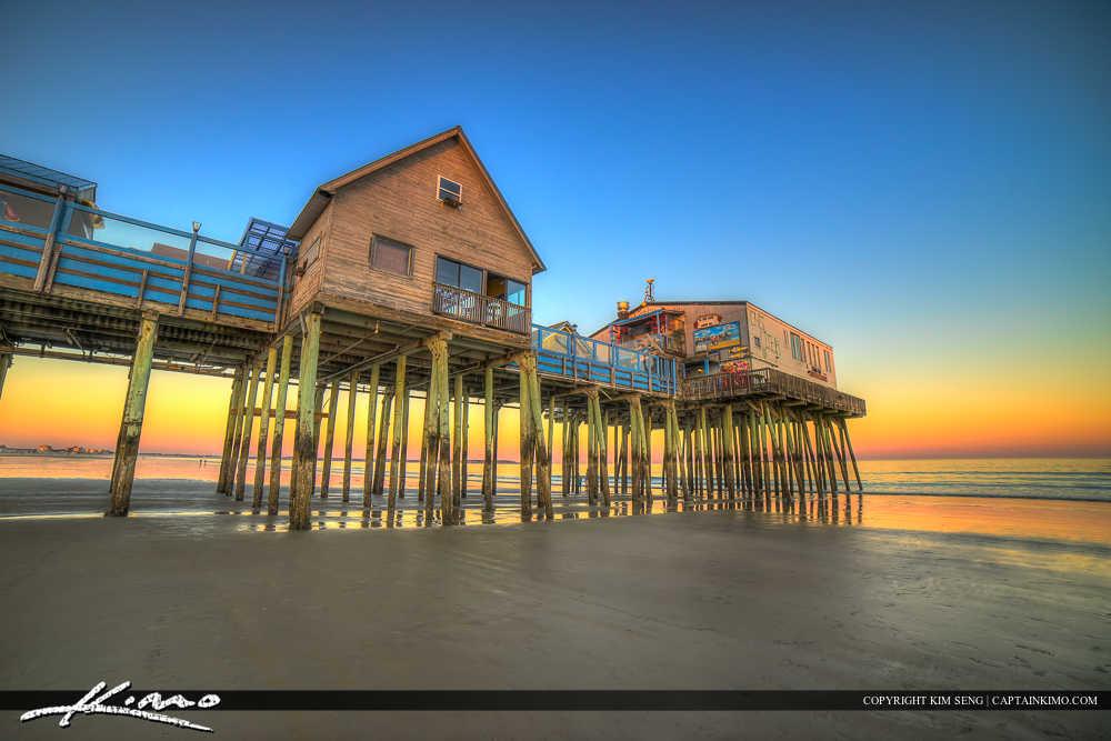 Old Orchard Pier at Beach in Maine