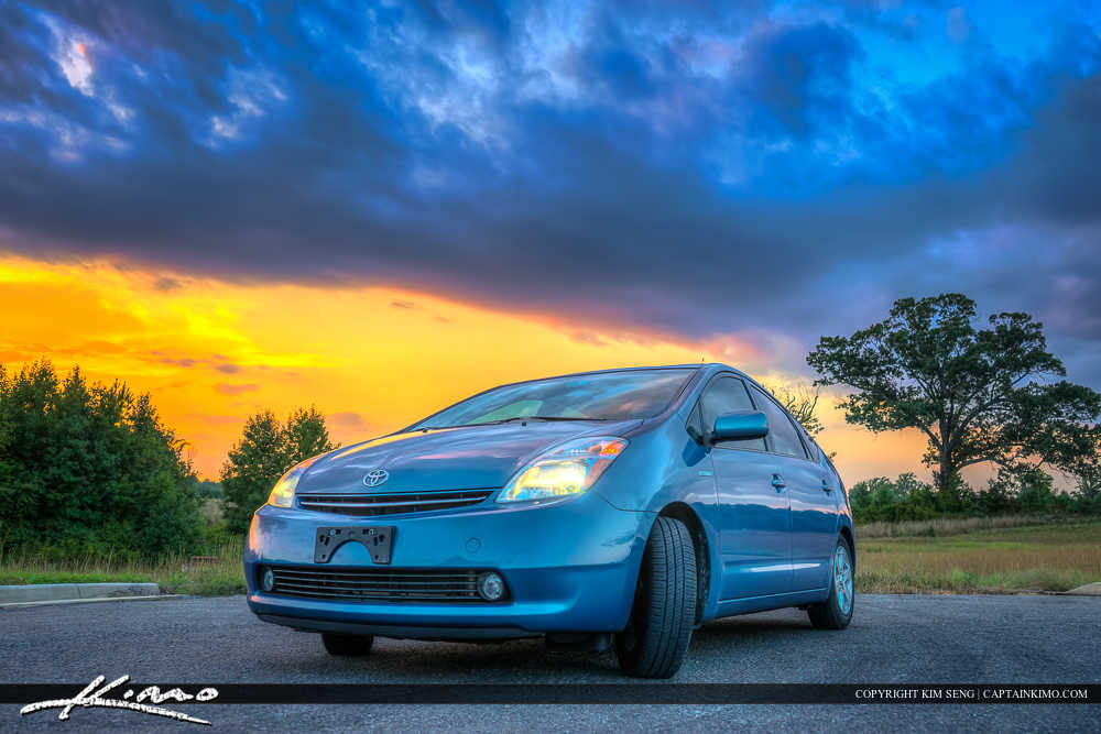 Toyota Prius Hybrid During Sunset at Virginia