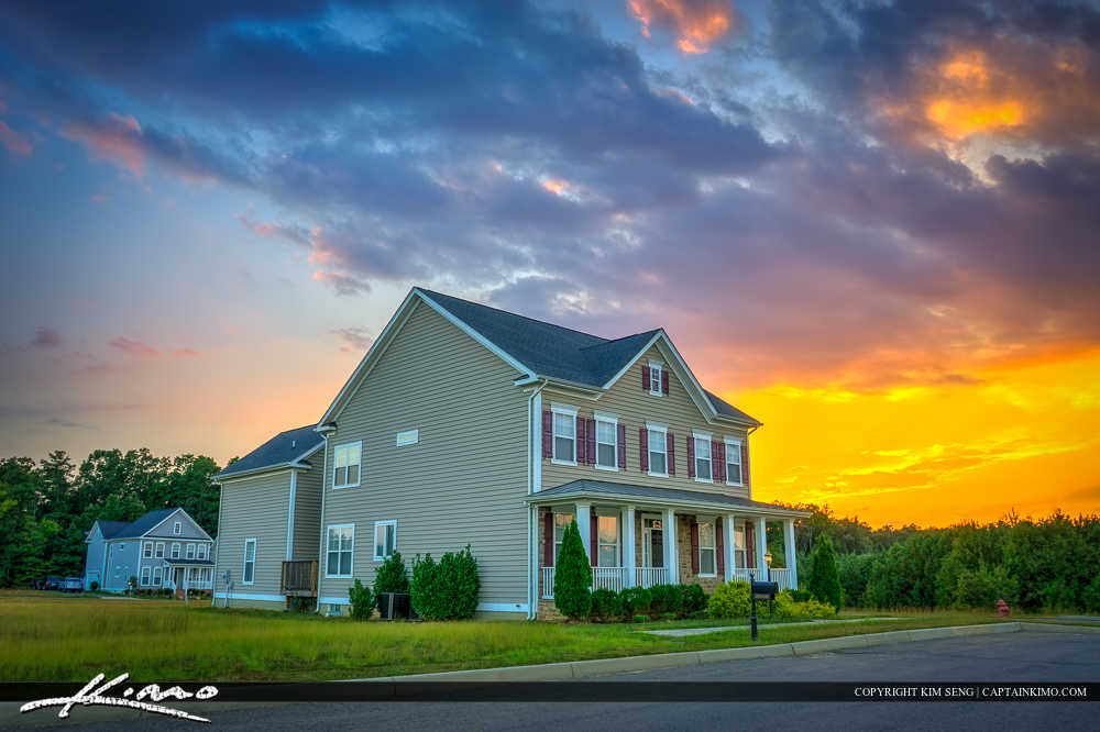 Virginia Real Estate Home Sunset
