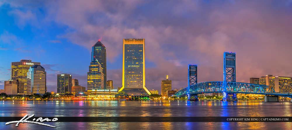 Jacksonville Florida Skyline Panorama