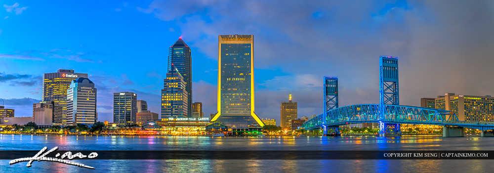 Jacksonville Florida City Skyline Panorama