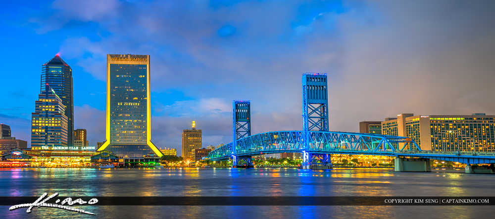 Jacksonville Florida Main Street Bridge Panorama