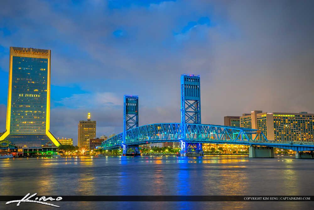Jacksonville Florida Wells Fargo Building and Main Street Bridge