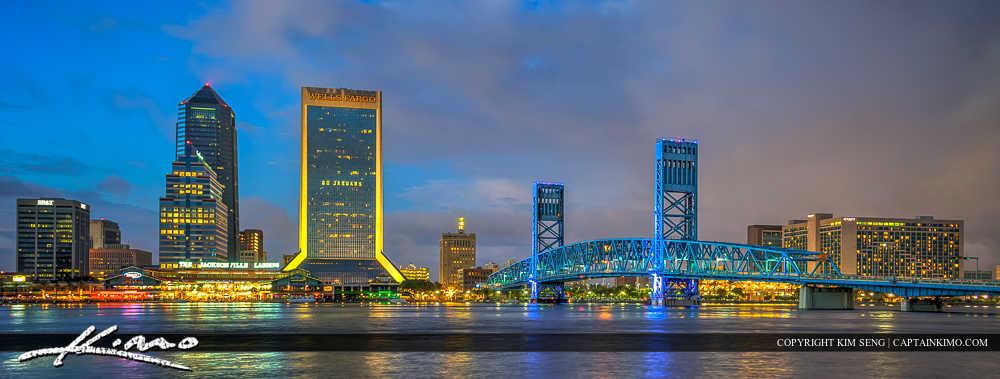 Jacksonville Florida Main Street Bridge at Night